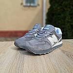 Женские замшевые кроссовки New Balance 574 РЕФЛЕКТИВ (серые) 20026, фото 4