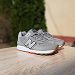 Жіночі замшеві кросівки New Balance 574 РЕФЛЕКТИВ (сірі) 20028, фото 2