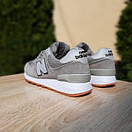 Женские замшевые кроссовки New Balance 574 РЕФЛЕКТИВ (серые) 20028, фото 3