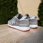 Жіночі замшеві кросівки New Balance 574 РЕФЛЕКТИВ (сірі) 20028, фото 3