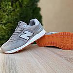 Женские замшевые кроссовки New Balance 574 РЕФЛЕКТИВ (серые) 20028, фото 6