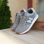 Женские замшевые кроссовки New Balance 574 РЕФЛЕКТИВ (серые) 20028, фото 8