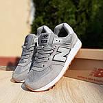 Женские замшевые кроссовки New Balance 574 РЕФЛЕКТИВ (серые) 20028, фото 9