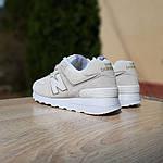 Женские замшевые кроссовки New Balance 574 (бежевые) 20029, фото 6