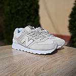 Жіночі замшеві кросівки New Balance 574 (бежеві) 20029, фото 7