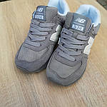 Женские замшевые кроссовки New Balance 574 РЕФЛЕКТИВ (серые) 20027, фото 8