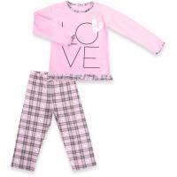 "Пижама Matilda с сердечками ""Love"" (7585-134G-pink)"