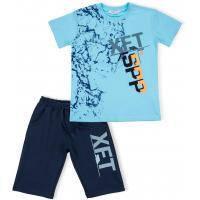 """Футболка детская Breeze с шортами """"XFT"""" (10925-140B-blue)"""