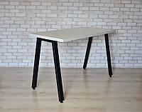 Стол Тавол КС 8.4 металл опоры черные 100смх60смх75см ДСП 32мм Белый
