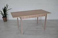 Стол обеденный раздвижной Тавол Скор 115 см х 75 см х 75 см ноги прямые деревянные Ясень/Ясень