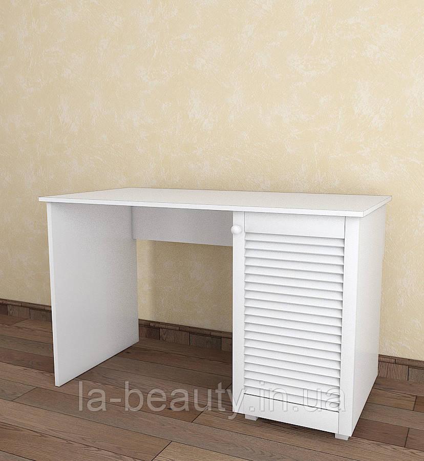 Стол письменный с жалюзийными дверями из дерева Тавол Сиеко СТ1Т 1200х600х750 Белый