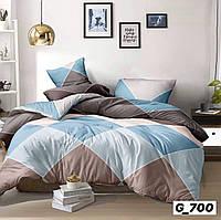 Комплект постельного белья размер ЕВРО материал - бязь ромбы