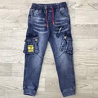 Веснянні сині джинси-ястреба для хлопчиків від 4-12років. Виробник Happy house Польща.
