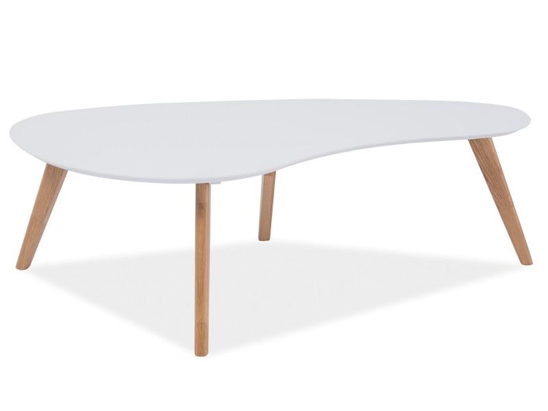 Журнальный столик Aurea белый/дуб