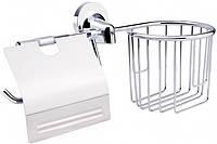 Держатель для туалетной бумаги GF CRM S- 2803-1 Хром 5237, КОД: 1499253