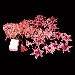 Гирлянда Снежинки Красный hubGgeN77606, КОД: 1555285
