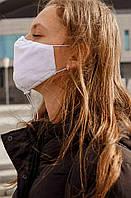 Удобная защитная многоразовая хлопковая маска для лица, повязка на лицо против вирусов. белый