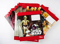 Комплект зошитів А5 Міцар скоба 24 арк клітинка офсет Star Wars 20 шт 249104, КОД: 902012