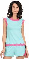 Пижама женская MODENA P078-2 XS Бирюзово-розовый, КОД: 1585302