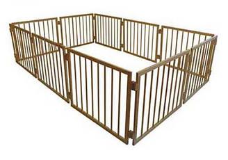 Манеж детский деревянный 63 см 10 секций Сосна МН10, КОД: 1548864