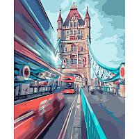 """Картина по номерам.  """"Динамический Лондон"""" 40х50 см КНО3570"""
