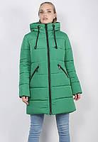 Женская зимняя удлиненная куртка Defolians К30-03 50 Зеленая К30-03-green-50, КОД: 1556719