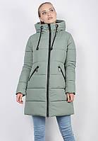 Женская зимняя удлиненная куртка Defolians К30-03 48 Оливковая К30-03-olive-48, КОД: 1556750