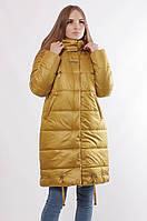 Женская зимняя удлиненная куртка Defolians К-33 54 Горчичная K33-gorchica-54, КОД: 1558282