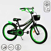 Велосипед CORSO 20 дюймов Черный IG-76087, КОД: 1491092