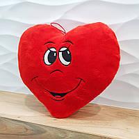 Мягкая игрушка Золушка Подушка сердце мальчик 34 см Красный 410-1, КОД: 1463683