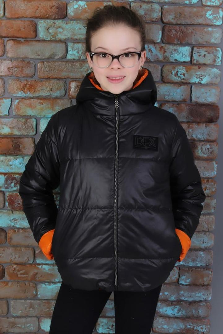 Куртка демисезонная тонкая для девочки рост 122-140.