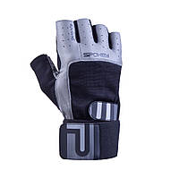Перчатки для фитнеса мужские Spokey Guanto II М Серо-черные s0177, КОД: 213338