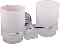 Стакан двойной для ванной Potato P2908 Хром 5436, КОД: 1463199