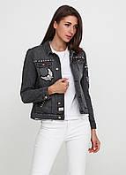 Женская джинсовая куртка Broken Arrow М Темно-серая 7170374-М, КОД: 1477937