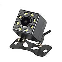 Автомобильная камера заднего вида Lesko JF-018 универсальная 8 LED для авто 4006-10970, КОД: 1464764