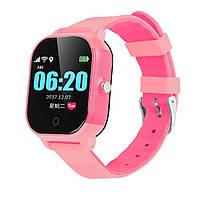 Детские смарт-часы Lemfo DF50 Ellipse Aqua с GPS трекером (Розовый), фото 1