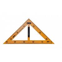 Для дошки трикутник з ручкою TEACHER 90/45град 50см