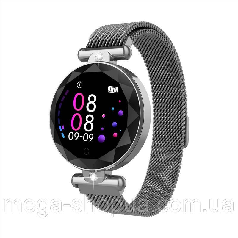Смарт-часы Smart Watch S-886V Silver, спорт часы, умные часы, наручные часы, фитнес браслет, фитнес трекер