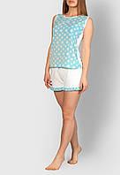 Пижама женская MODENA P007-3 L Голубой с белым, КОД: 1585457