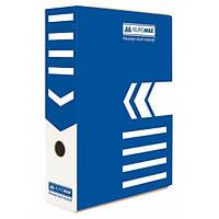 Бокс для архивації докум., 80мм синій
