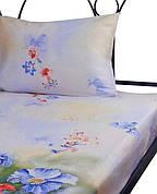 Набор простынь Руно полуторная 143*215 см + наволочка 50*70 см сатин арт.12.137_summer flowers