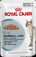 Royal Canin HAIRBALL CARE  0,85 корм для взрослых котов ЭФФЕКТИВНОСТЬ: ВЫВЕДЕНИЕ ВОЛОСЯНЫХ КОМОЧКОВ