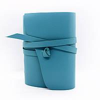 Кожаный блокнот COMFY STRAP В6 12.5 х 17.6 х 3.5 см Чистый лист Бирюзовый 043, КОД: 1549662