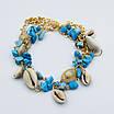Оригинальный женский браслет с ракушками, цвет - золото, фото 2