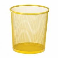 Кошик д/сміття офісн 28см метал, жовтий