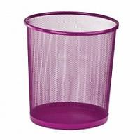 Кошик д/сміття офісн 28см метал, рожевий