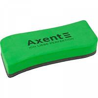 Губка для сухостир. дошок магнітна Axent Wave (велика) зелена