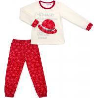Пижама Matilda флисовая со шляпкой (9110-3-116G-red)