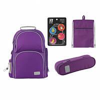 Набір рюкзак + пенал + сумка для взуття Kite 702-2 Smart фіолетовий