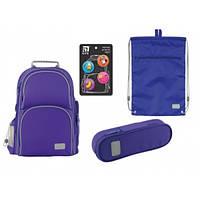Набір рюкзак + пенал + сумка для взуття Kite 702-3 Smart синій